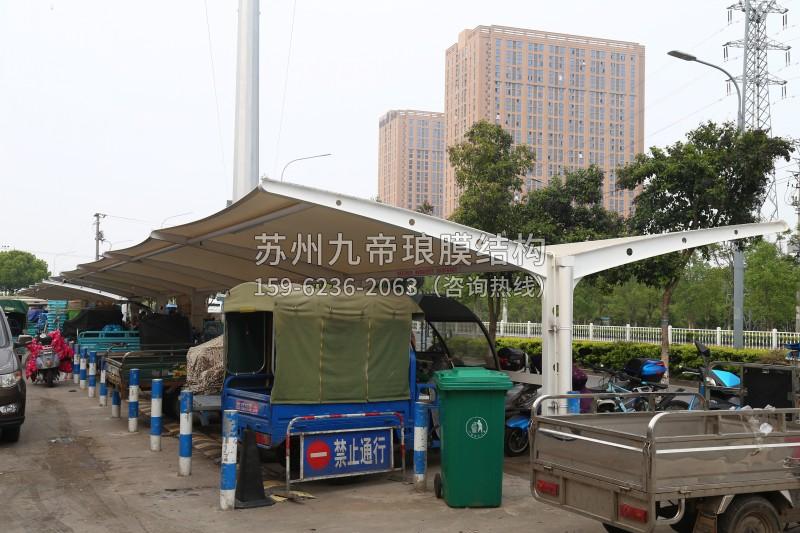 拉杆型膜结构停车棚